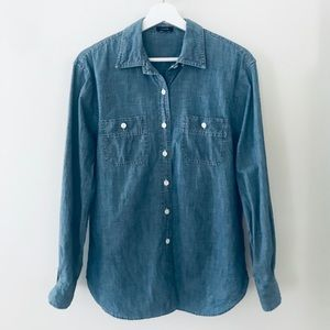 Denim Long Sleeve Button Down Shirt from J.Crew